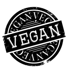 vegan rubber stamp vector image