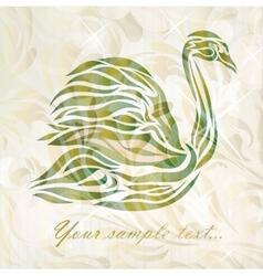 Vintage swan on background vector