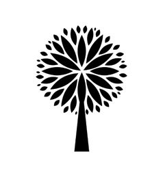 Stylized black tree vector