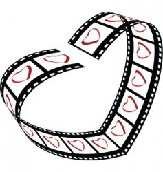 love film strip vector image