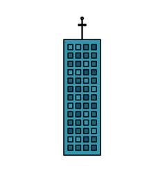 building company office skyscraper vector image