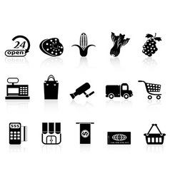 supermarket shopping icon vector image