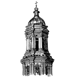 Digital drawing of historical building vector