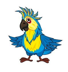 Colorful parrot vector