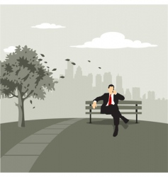 City scape with business vector