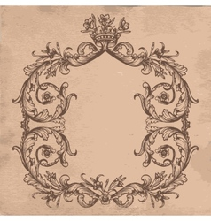 Vintage royal card vector