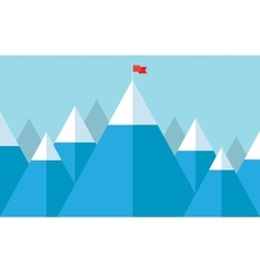 Flag on the peak vector