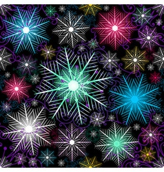 dark christmas pattern vector image