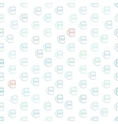 Cute mugs and cups background vector