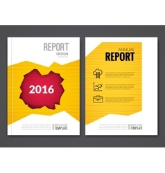 Cover report business yellow red hole geometric vector
