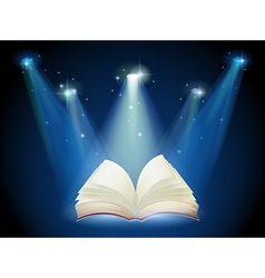A book with spotlights vector