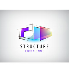 abstract colorful geometric structure vector image