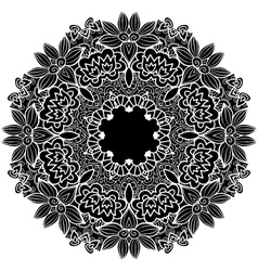 black round ornament vector image vector image