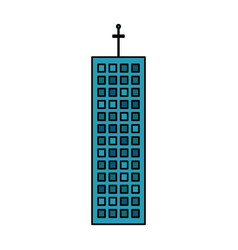 Building company office skyscraper vector
