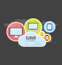 cloud computing concept various devices like vector image
