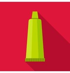 Cream tube icon flat style vector