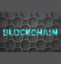 digital background of blockchain vector image vector image