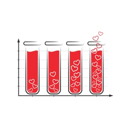 Fun love infographic icon with tubes of blood vector