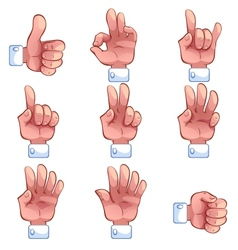 Hands collection vector image