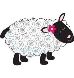 little lamb vector image vector image