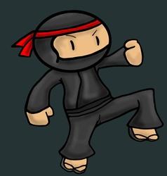 Ninja asia cartoon danger character vector
