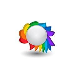 Rainbow button vector image vector image