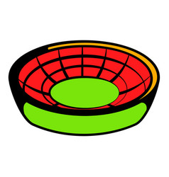 round stadium icon icon cartoon vector image