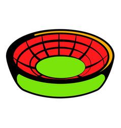 Round stadium icon icon cartoon vector