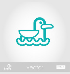 Seagull outline icon summer vacation vector