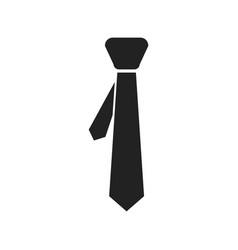 Tie flat icon necktie vector