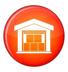 Warehouse building icon flat style vector image