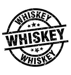 Whiskey round grunge black stamp vector