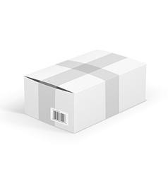 White parcel vector