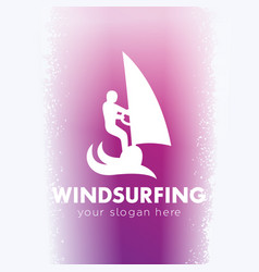 Windsurfing logo windsurfer icon vector