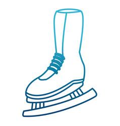 Women ice skate vector