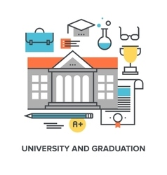 University and graduation vector