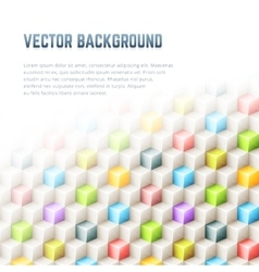 Abstract geometric background with 3D cubes vector image