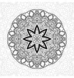 Mandala highly detailed zentangle  ethnic tribal vector