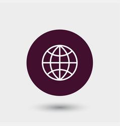 globe icon simple vector image