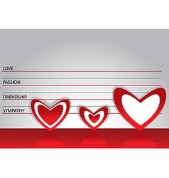 Suspected in love vector image