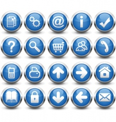 Buttons blue vector