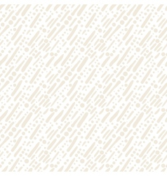White pattern with random brushstrokes and dots vector