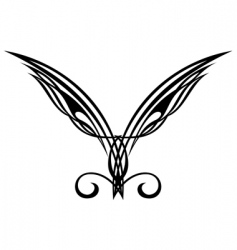 Wings tattoo design elements vector