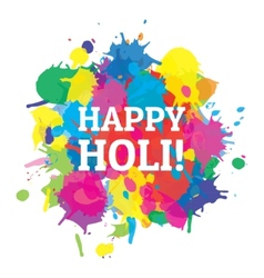 Indian festival happy holi colors splash vector