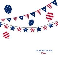 Bunting pennants for independence day usa vector