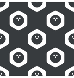 Black hexagon bowling pattern vector