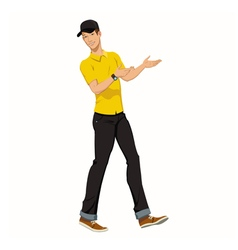 Young worker man vector