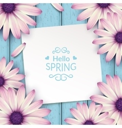 Spring flowers frame composition vector image