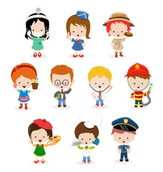 Kids career set vector