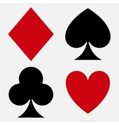 Playing card suit vector image